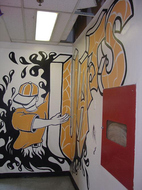 Third-floor mural.