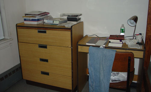 My bureau and nightstand.