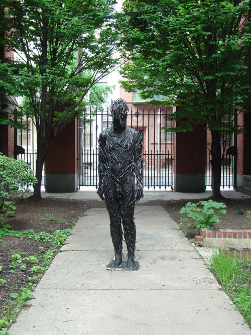 Courtyard sculpture.