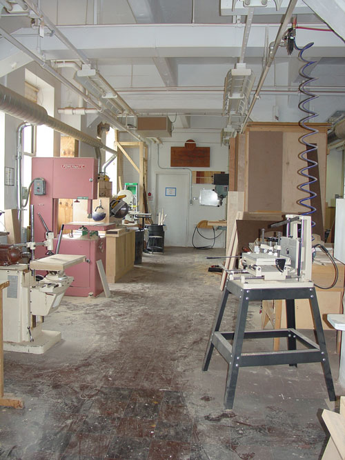 The other side of the wood shop from the other end.