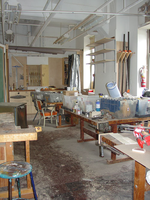 The second room of the wood shop.