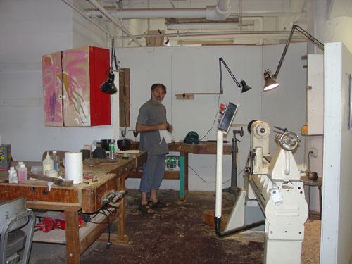 Jean-François's work area.