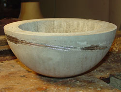 Jean-François's first cement bowl.