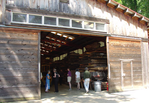The wood barn.