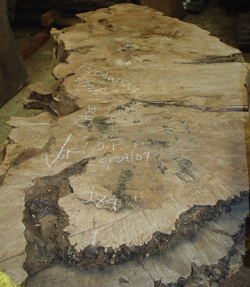 A marked slab of wood.