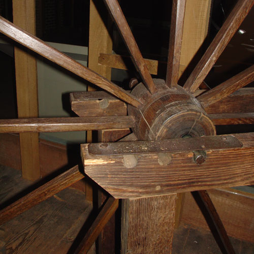 Closeup of the great wheel.