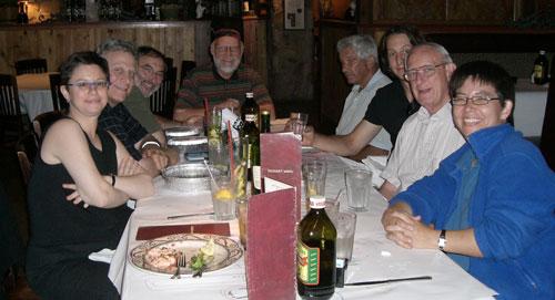 Dinner with Bruce Kaiser.