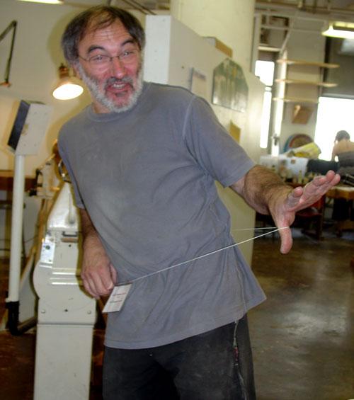 Jean-François dances.
