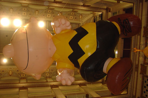 Macy's Charlie Brown hot-air balloon.