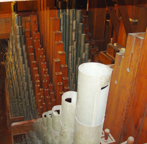 Some of the nearly 29,000 pipes of the organ.