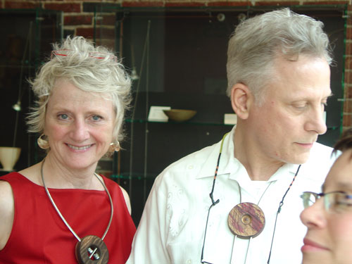 Tina and Albert. Necklace and bolo tie by Peter and Jean-François.