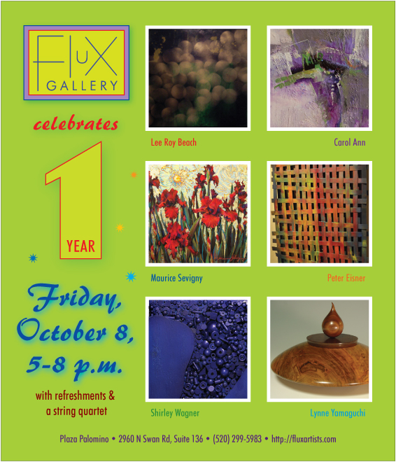 Flux celebrates one year on Friday, October 8, 5 to 8 p.m.