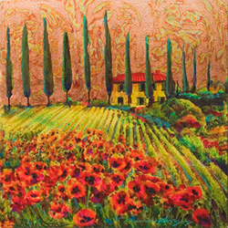 """Tuscan Poppies,"" by Maurice Sevigny"