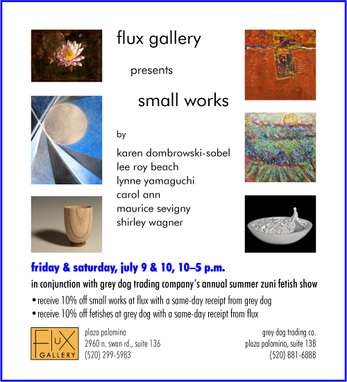 Small-works show at Flux Gallery July 9 and 10
