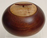 Sapele box with birdseye maple lid and sapele handle