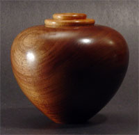 Walnut hollow vessel with maple collar