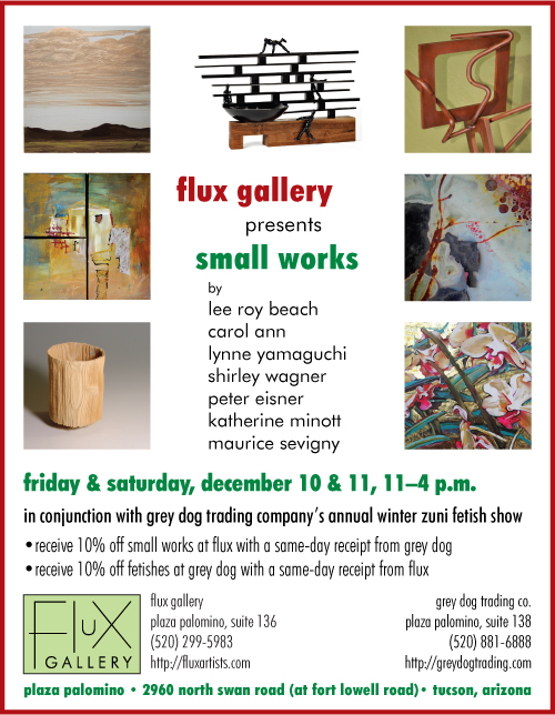 Small-works show at Flux Gallery, December 10 and 11